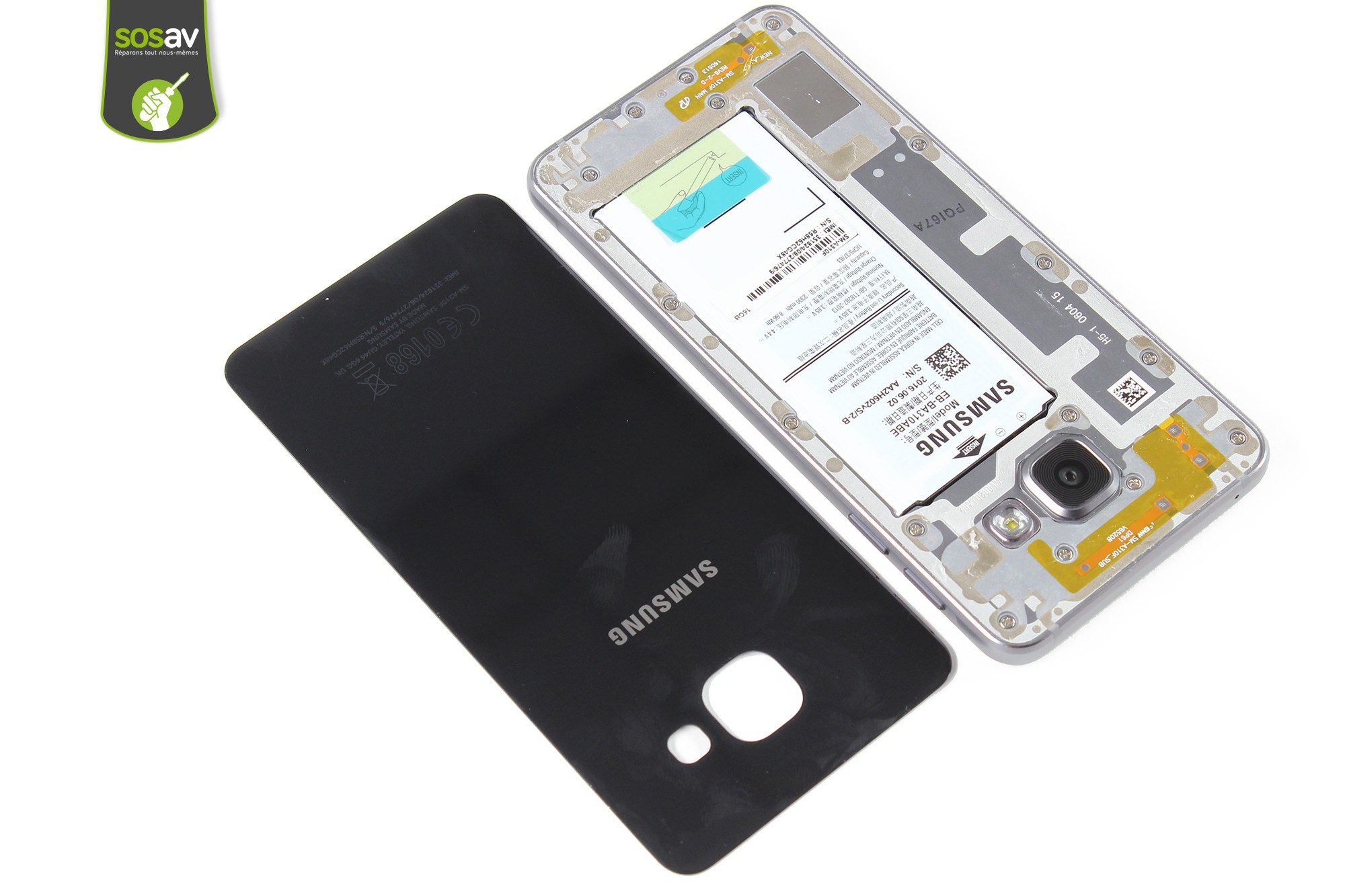 Rear glass Samsung Galaxy A3 2016 repair - Free guide - SOSav