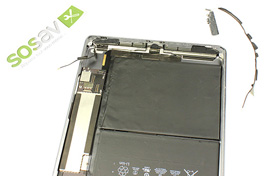 Repair tutorial for iPad Air 1 WiFi : Left WiFi Antenna