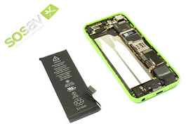 Repair tutorial for iPhone 5C : Battery