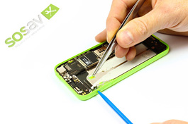 Tuto réparation iPhone 5C : Bouton vibreur