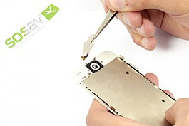 Repair tutorial for iPhone 5 : Home Button Flex Cable