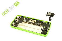 Repair - Repair guide: Speaker (bottom one) iPhone 5C