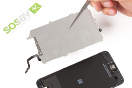 Repair tutorial for iPhone 6 Plus : LCD Shield Plate & Home Button Cable
