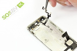 Tuto réparation iPhone 5 : Nappe Power + bouton vibreur + boutons volume