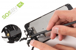 Repair tutorial for iPhone 6 Plus : Front camera + Proximity and Light Sensor  + Earpiece Speaker + Microphone Cable