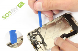 Repair tutorial for iPhone 4S : Jack plug, volume and vibrator buttons