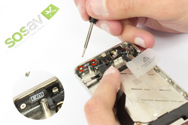 Repair tutorial for iPhone 4S : Proximity, light sensor and power button cable