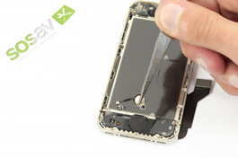 Repair tutorial for iPhone 4S : Home Button Flex Cable